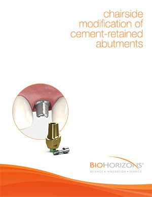 Chairside modification of cement-retained abutments